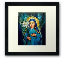 Mother Of God Three-Years-Old  Framed Print