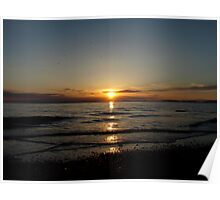 Sunset over Solway Firth. Poster