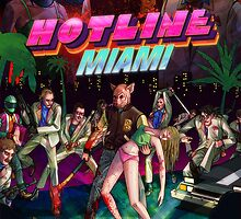 Hotline Miami Phone Cover by The Flaming  Potato