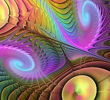 Curling up, Abstract Fractal wallart by walstraasart