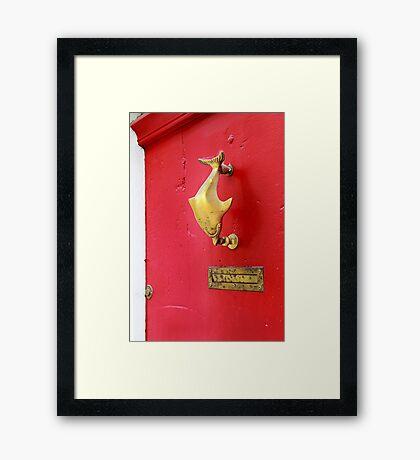 Knock knock. Framed Print