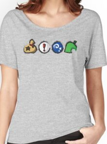 Distressed Animal Crossing Items  Women's Relaxed Fit T-Shirt