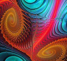 Curling up II, abstract fractal wallart by walstraasart