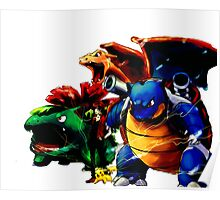 Pokemon first 3 starters Poster