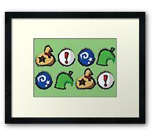Distressed Animal Crossing Items 2  Framed Print