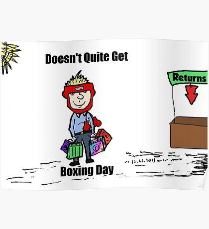Misunderstanding Boxing Day cartoon Poster