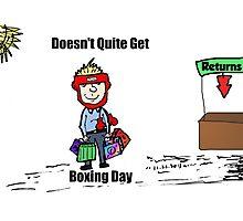 Misunderstanding Boxing Day cartoon Photographic Print