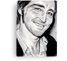 Lee PACE, irresistible smile Canvas Print