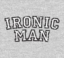 IRONIC MAN (Used Look) White by theshirtshops