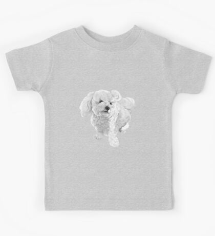 A beautiful Bichon named Coconut ~ Black and white Kids Tee