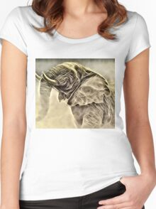 Wild nature - elephant #2 Women's Fitted Scoop T-Shirt
