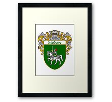 McGuire Coat of Arms/Family Crest Framed Print