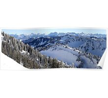 Panoramic view on the Alps Poster