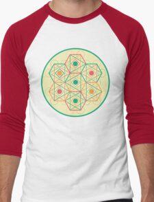 Circle, Square, Triangle Men's Baseball ¾ T-Shirt