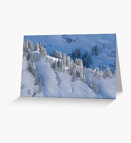 Snow in the Mountains Greeting Card