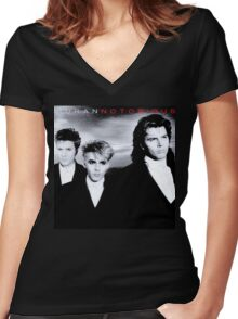 Vintage Duran Duran Notorious Women's Fitted V-Neck T-Shirt