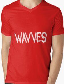 Wavves black Mens V-Neck T-Shirt