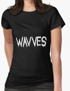 Wavves black Womens Fitted T-Shirt