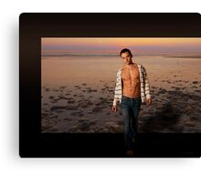 Stepping Outside - gay male art Canvas Print