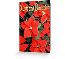 Love and Devotion Poinsettia Christmas Greeting Greeting Card