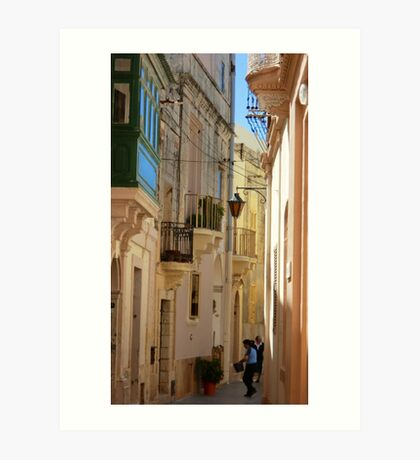 Maltese Streetscape Art Print