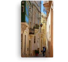 Maltese Streetscape Canvas Print