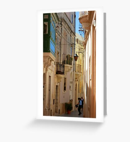 Maltese Streetscape Greeting Card