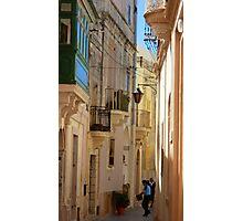 Maltese Streetscape Photographic Print