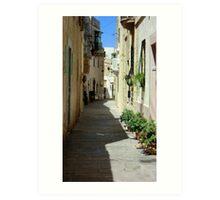 Malta Streetscape Two Art Print