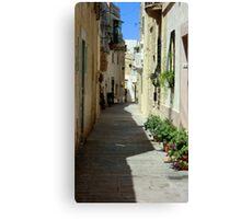 Malta Streetscape Two Canvas Print