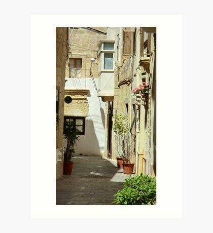 Malta Streetscape Art Print