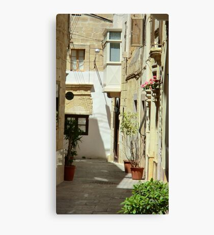 Malta Streetscape Canvas Print