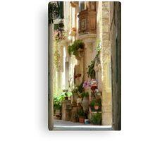 Malta Streetscape Canvas Print