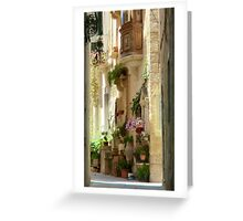 Malta Streetscape Greeting Card