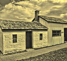 Fort Bridger Milk House 1880 & One-Room Schoolhouse by Brenton Cooper