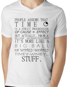 Wibbly-Wobbly Timey-Wimey - Doctor Who Mens V-Neck T-Shirt