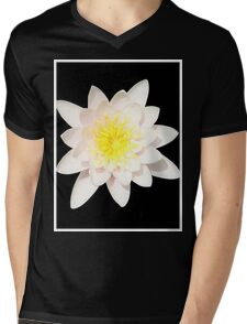 Pink Water Lily Mens V-Neck T-Shirt