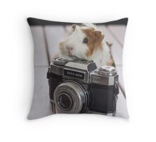 Guinea photographer Throw Pillow