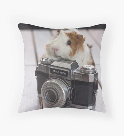 Guinea photographer Throw Pillow