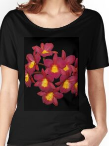 Orchids Red and Yellow Women's Relaxed Fit T-Shirt
