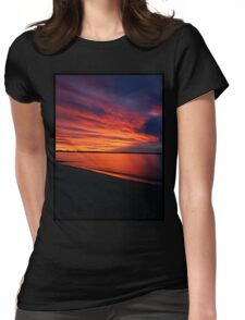 Sunset Blood Red Womens Fitted T-Shirt