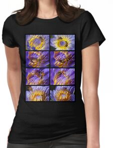 Bee and Water Lily Womens Fitted T-Shirt