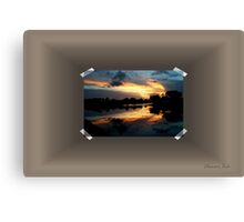 Surreal Perfection ~ Sunset Reflection Canvas Print