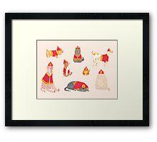 Fire Dogs Framed Print
