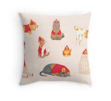 Fire Dogs Throw Pillow