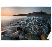 Dunstanburgh Castle at dawn Poster