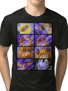 Bees and Water Lillies Lily Tri-blend T-Shirt