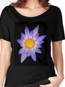 Water Lily Purple Yellow Women's Relaxed Fit T-Shirt