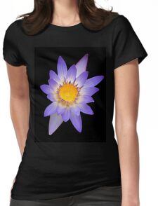 Water Lily Purple Yellow Womens Fitted T-Shirt