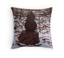 Groundhog Day on the Way Throw Pillow